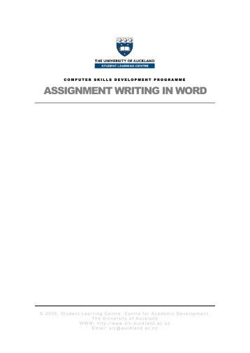 Writing assignments for university