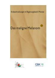 Das maligne Melanom - Krebsregister NRW