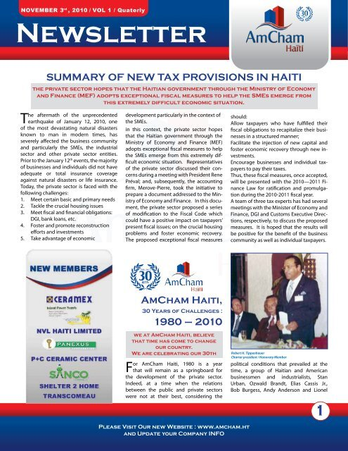 Click here to View the Newsletter - AMCHAM
