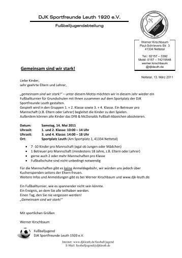 Anmeldung - DJK Leuth