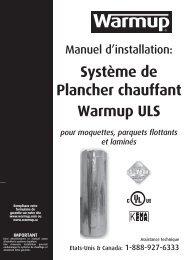 Système de Plancher chauffant Warmup ULS pour moquettes ...