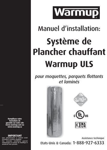Plancher chauffant electrique - Warmup plancher chauffant ...