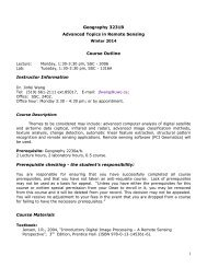 Advanced Remote Sensing - Geography, Department of - University ...