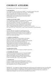 Télécharger programme, tarifs et infos pratiques - MQEV