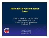 National Decontamination Team - NRT Home - U.S. National ...