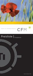 Preisliste CFM Jörg Einzel Web - CFM Medienproduktion
