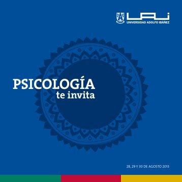 La Escuela de Psicología te invita Semana de la Psicología