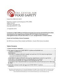here - Center for Food Safety