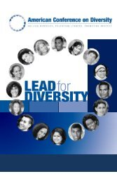 Lead for Diversity - American Conference on Diversity
