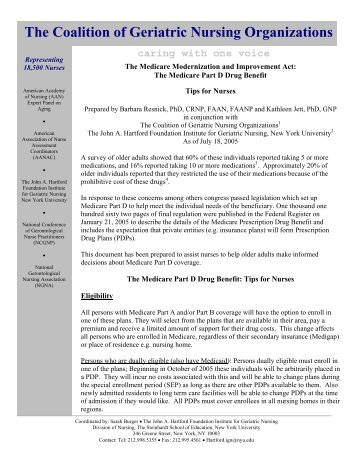 The Coalition of Geriatric Nursing Organizations