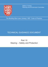 Technical guidance notes for safety and protection ... - States of Jersey