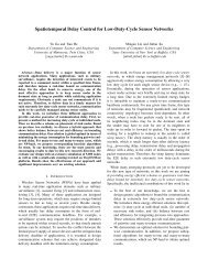 Spatiotemporal Delay Control for Low-Duty-Cycle Sensor Networks