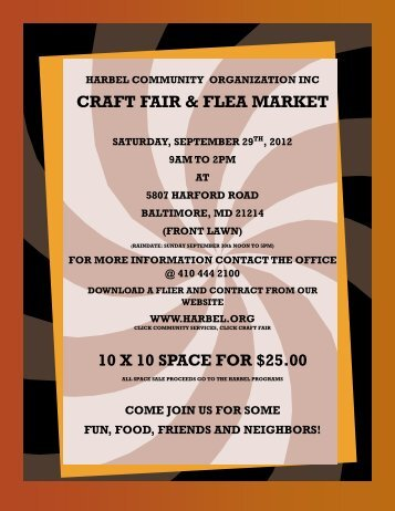harbel community organization inc craft fair & flea market saturday ...
