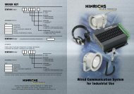 Wired Communication System for Industrial Use - Hinrichs Electronic