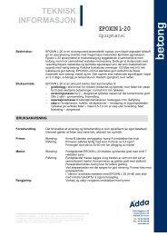 Epoxin L-20 Epoxymørtel - ADDA Byggkjemi AS