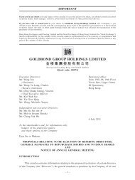 Circulars - Proposals Relating to Re-election of ... - goldbond group