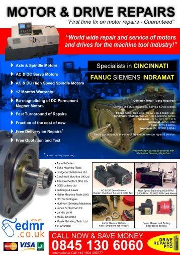 Machine Tool - EDMR for Servo Motor Repair | Servo motors