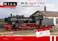 BR 38 Spur 0 1:43,5 - Kiss Modellbahnen