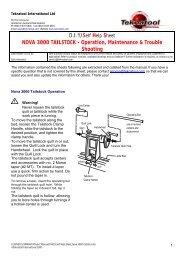 Nova 3000 Tailstock - Teknatool