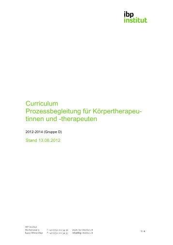 Curriculum Prozessbegleitung für Körpertherapeu ... - IBP Institut