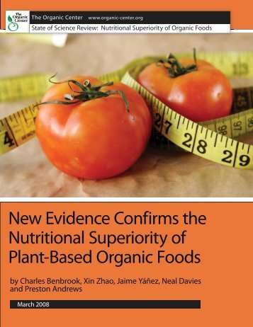 Nutritional Superiority of Plant-Based Organic Foods - Del Campo al ...