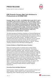 PRESS RELEASE - ESK- Advanced Technical Ceramics
