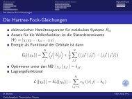 Die Hartree-Fock-Gleichungen