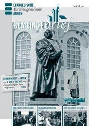Juni 2011 - Evangelische Kirchengemeinde Annen