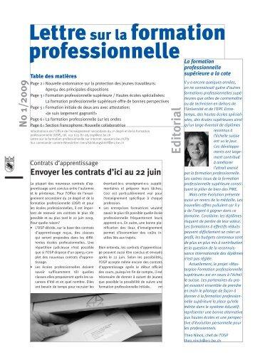 Lettresur la formation professionnelle - Lehrstellenboerse.ch Blog