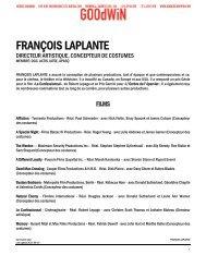 FRANÇOIS LAPLANTE - Agence Goodwin