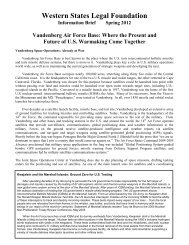 Vandenberg Air Force Base - Western States Legal Foundation