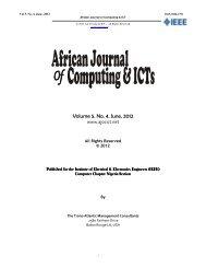 Volume 5. No. 4. June, 2012 - IEEE Afr J Comp & ICTs