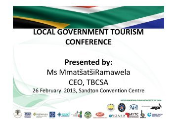 local government & private sector partnerships for tourism growth ...