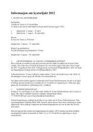 Informasjon om kystseljakt 2012 - Troms fylkeskommune