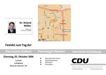Einladung zum Festakt - CDU Kreisverband Ludwigsburg