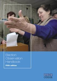 Election Observation Handbook