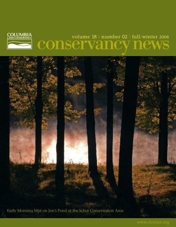 Fall 2008 - Columbia Land Conservancy