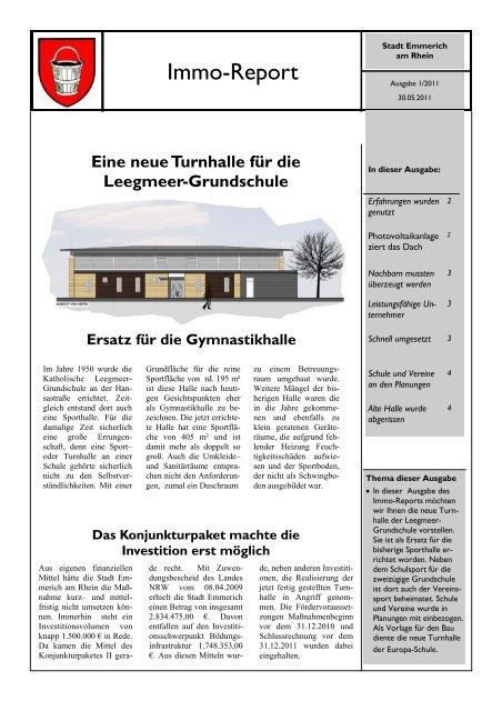 Immo-Report 1/2011 - Turnhalle Leegmeer - Emmerich