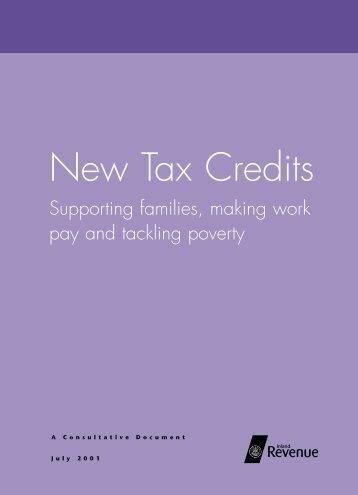 Supporting families, making work pay - Revenue Benefits