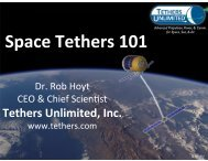 Tethers Unlimited, Inc. - Earth and Space Sciences