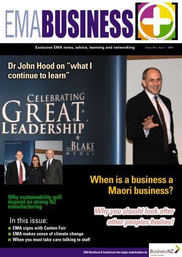 When is a business a Maori business? - EMA