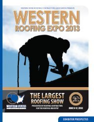 THE LARGEST - Western States Roofing Contractors Association