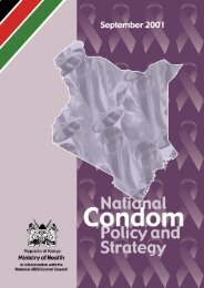 National Condom Policy and Strategy - Harvard School of Public ...
