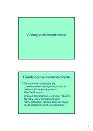 Genetyka niemendlowska Dziedziczenie niemendlowskie