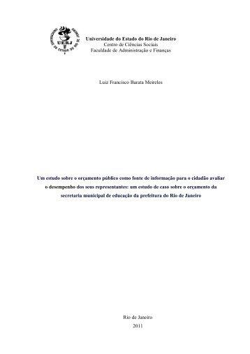 Proposta de Projeto de Dissertação de Mestrado em Economia ...