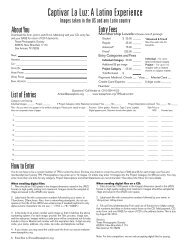Captivar La Luz Entry Form - Texas Photographic Society
