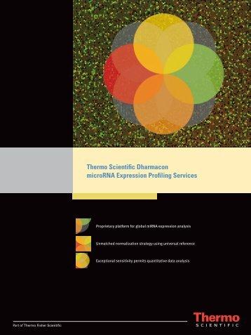 microRNA Expression Profiling Services Brochure