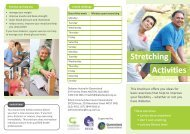 Stretching exercise plan - Diabetes Queensland