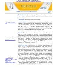 BNP et succès du sevrage de la ventilation Population étudiée - SRLF