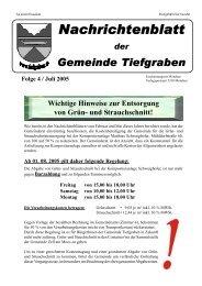 Folge 4 / Juli 2005 - Tiefgraben